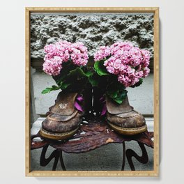 These Boots Are Made For Flowers Serving Tray