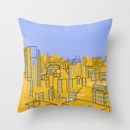 Skyline V Throw Pillow