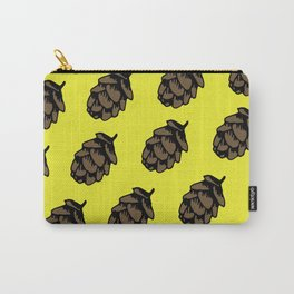 Yellow Pinecone Pattern Carry-All Pouch