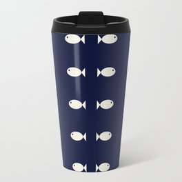 Fish Pattern,Nautical Travel Mug