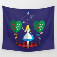 wonderland Wall Tapestries featuring Wonderland by AmadeuxArt