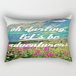 oh darling, let's be adventurers Rectangular Pillow