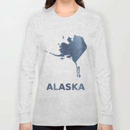 Alaska map Long Sleeve T-shirt