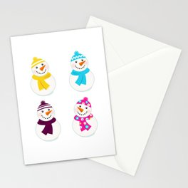 Cute Snowmen edition. Ready for Winter? Stationery Cards