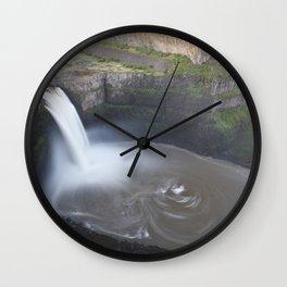 Palouse Falls at Sunrise Wall Clock