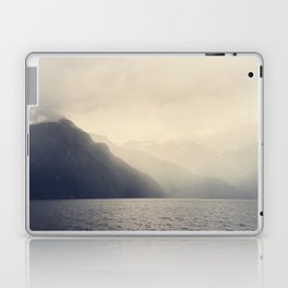 Foggy Fjord, North Sea Laptop & iPad Skin
