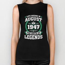 August 1947 The Birth Of Legends Biker Tank