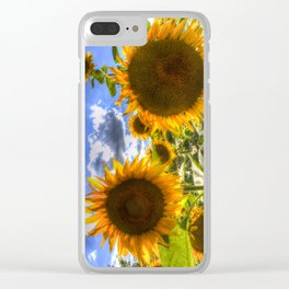 Sunflowers Of Summer Clear iPhone Case