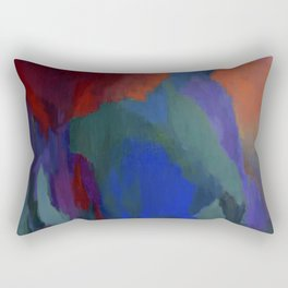 Blue Musings with Scarlet at 3 AM Rectangular Pillow