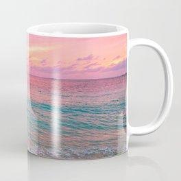 Aerial Photography Beautiful: Turquoise Sunset Relaxing, Peaceful, Coastal Seashore Coffee Mug