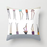 legs Throw Pillows featuring Legs! by Pattes De Mouche