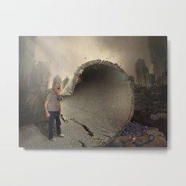 mattepainting-apocalipsis-2017 Metal Print