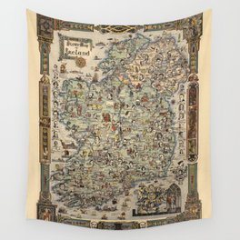 Map of Ireland Wall Tapestry
