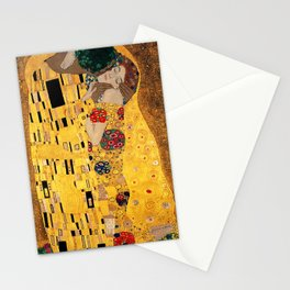 The Kiss - For Interracial Couples Stationery Cards