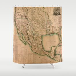 Map of North America Missouri Territory (1826) Shower Curtain