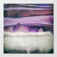 northern lights Canvas Prints featuring Northern Lights by SpaceFrogDesigns