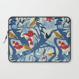 North American Forest Pattern (Blues) Laptop Sleeve
