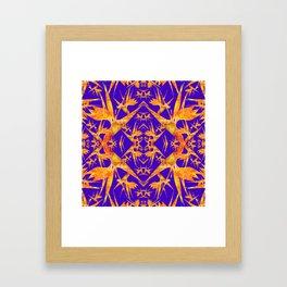 Bird of Paradise Fractal Floral Mandala Framed Art Print