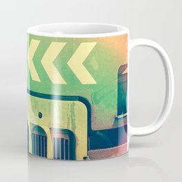 Road Roller Chevron 02 - Industrial Abstract (everyday 18.01.2017) Coffee Mug