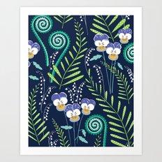 Love-in-idelness - violet Art Print