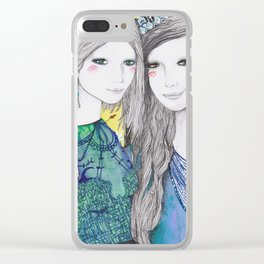 The Mirror and The Mask Clear iPhone Case