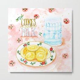Cookies and Milk Metal Print