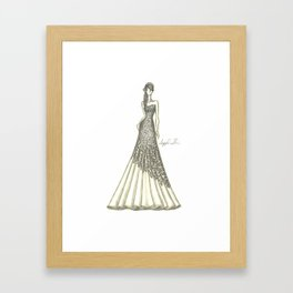 """Enzoani """"Blue"""" Cheyenne Wedding Dress Framed Art Print"""