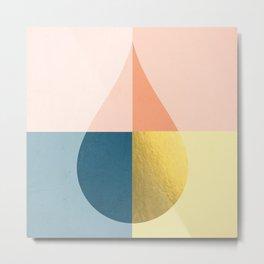 Geometric raindrop Metal Print