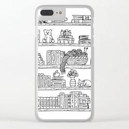 Bookshelf! Clear iPhone Case