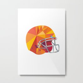 American Football Helmet Low Polygon Metal Print