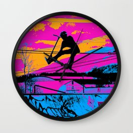 Lets Fly!  - Stunt Scooter Wall Clock