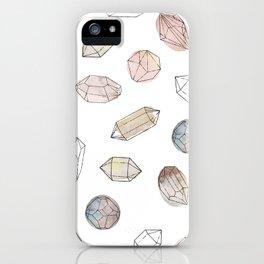 Watercolor Crystals | Healing Crystals iPhone Case