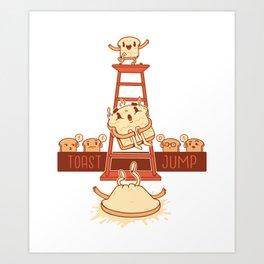 TOAST JUMP ART DESIGN Art Print