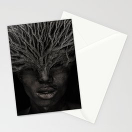 Tree man. Double exposure portrait by T.Amrein Stationery Cards