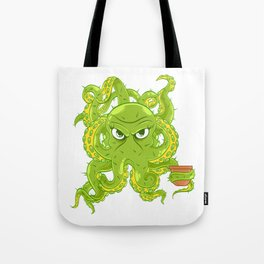 A Cute Greeny Cactus Plant Tee For You With Illustration Of A Cactus Beautiful Female Octopus Tote Bag