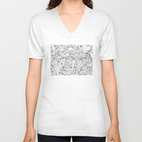 lace V-neck T-shirts featuring Lace by By Myyna