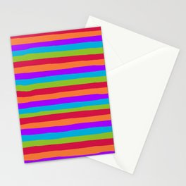 lumpy or bumpy lines abstract and summer colorful - QAB273 Stationery Cards