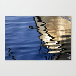 Blue white abstract Canvas Print