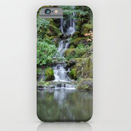 Portland Japanese Garden Waterfall iPhone Case