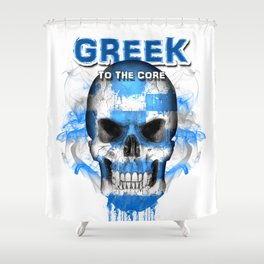 To The Core Collection: Greece Shower Curtain