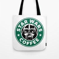 starwars Tote Bags featuring StarWars Coffee by Unicity