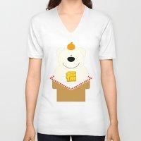 japanese V-neck T-shirts featuring JAPANESE by SANTA