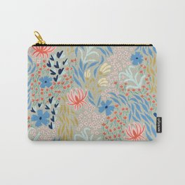 Flower Picking - Light Olive Carry-All Pouch