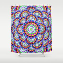 Mandala Psychedelic Visions G324 Shower Curtain