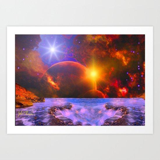 Alien coast Art Print