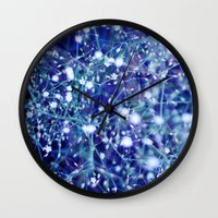 constellations Wall Clocks featuring constellations by Sandra Arduini