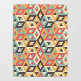 Pastel Geometric Pattern Poster