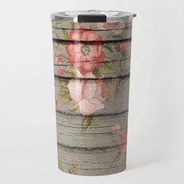 Rustic Floral Travel Mug
