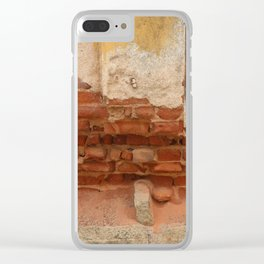 Broken old Wall Clear iPhone Case