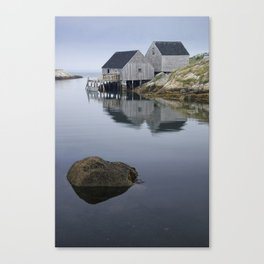 Early Morning at Peggy's Cove Harbor Canvas Print